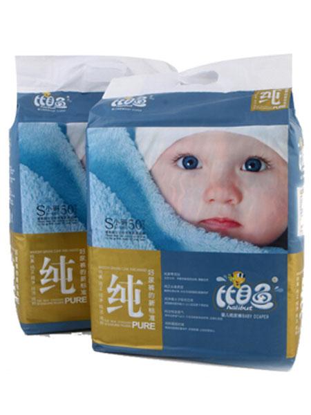 比目鱼婴童用品加棉快吸纯品质婴儿纸尿裤S码50片