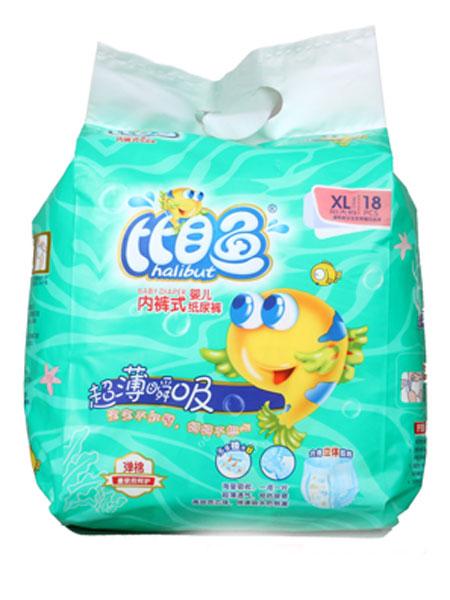 比目鱼婴童用品超薄瞬吸内裤式婴儿纸尿裤XL码18片