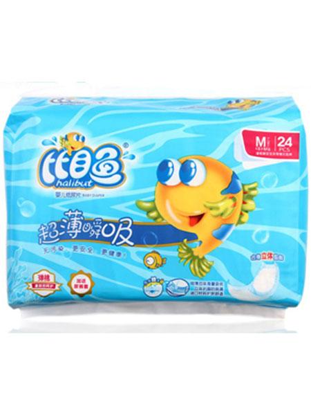 比目鱼婴童用品超薄瞬吸婴儿纸尿片M码24片