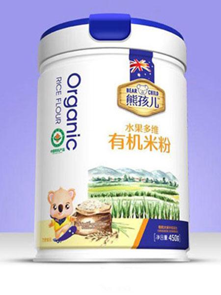 熊孩儿婴儿食品水果有机米粉