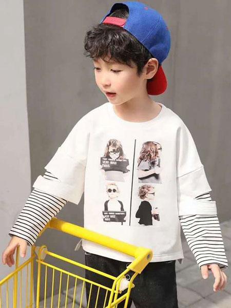 木子MUUZI童装品牌2019秋冬假两件T恤长袖