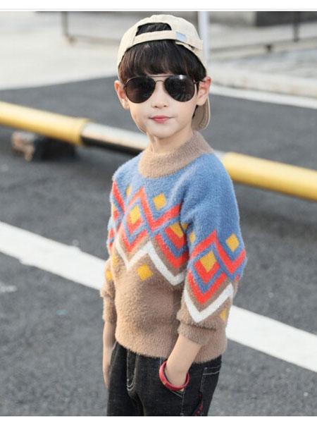 开米熊童装品牌2019秋冬羊毛衫套头衫