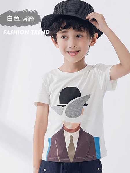 欧恰恰童装品牌2019春夏潮流修身学生青少年圆领上衣服