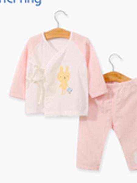 依尔婴童装品牌2019春夏长袖薄款宝宝夏装空调服初新生儿绑带和尚服套装