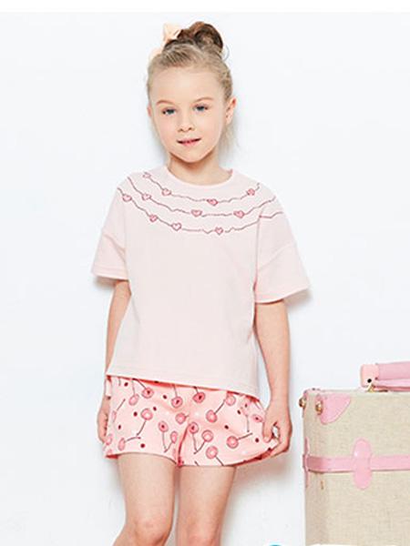 小红豆童装童装品牌2019春夏家居服女童红豆男童睡衣
