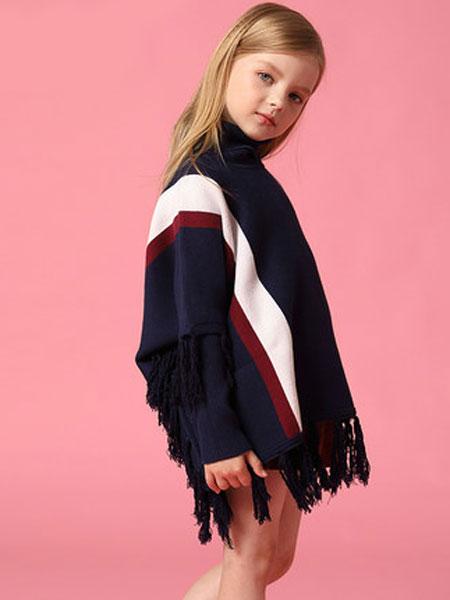 欧恰恰童装品牌2019秋冬高领羊毛衫套头衫