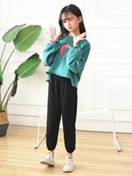 菲衣雅童装品牌2019秋季高腰休闲裤两件套