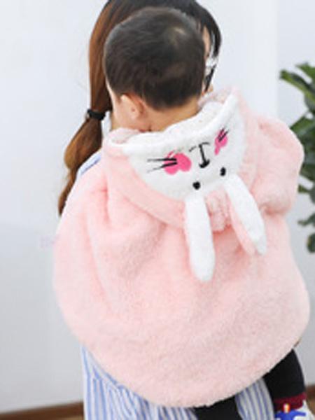 俊熊呗呗童装品牌2019秋冬披风外塔儿童斗篷公主披肩
