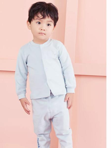 时尚小熊童装品牌2019秋季加厚新生宝宝纯色夹棉服