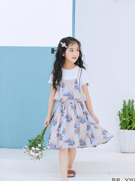 图零钱 TUTU Tips童装品牌2019夏季雪纺裙子小清新夏装潮