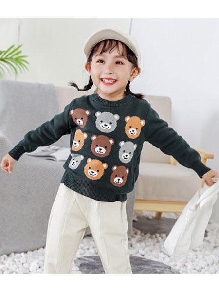 哈爸童装品牌2019秋冬针织套头衫