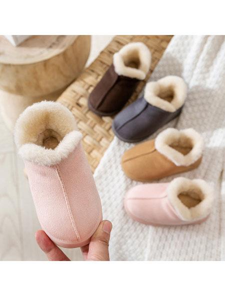 千织帛童鞋品牌2019秋冬保暖室内棉拖