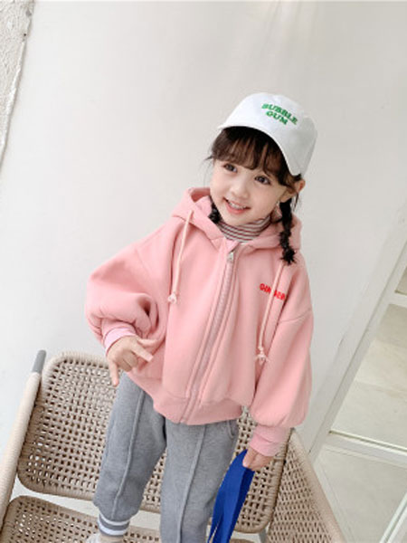 mace reese童装品牌2019秋冬加绒连帽卫衣