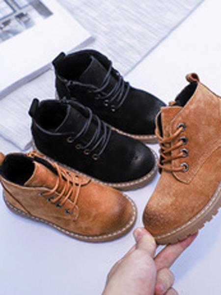 火焰���童鞋品牌2019春夏大童英���L真皮加�q�和�靴子潮