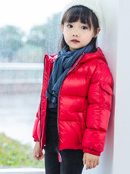 富进童装品牌2019秋冬女童银色面包服棉袄39