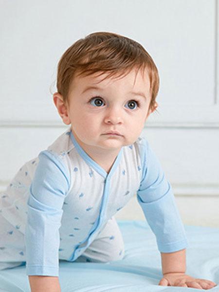 卓儿童装品牌2019秋季袍婴儿和尚服打底内衣家居服棉