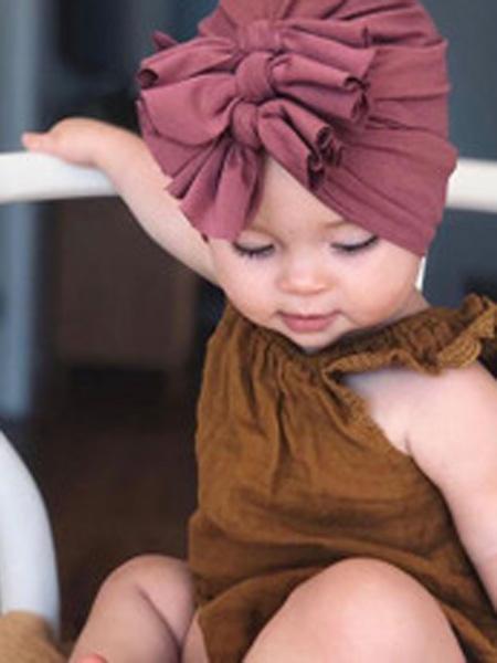 米耀婴童用品2019秋冬棉布帽打结套头帽印度帽