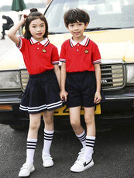 安果儿童装品牌2019春夏韩式校服夏季衬衫大童男童。