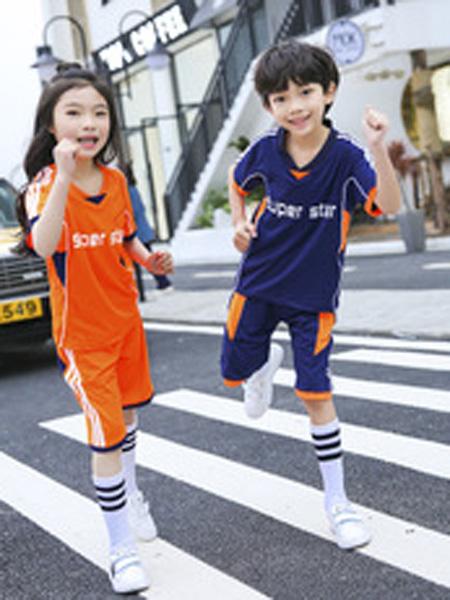 安果儿童装品牌2019春夏运动套装