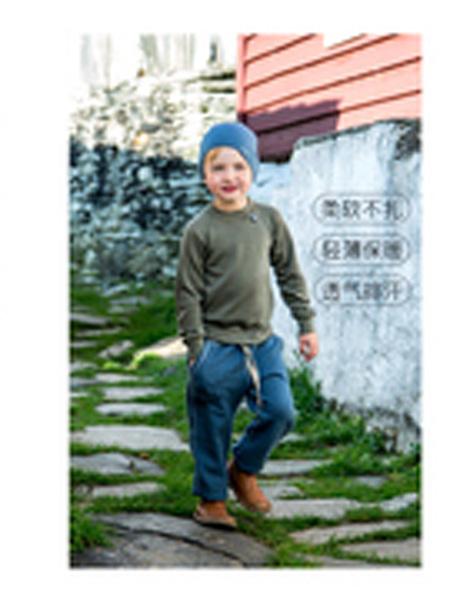 Janus童装品牌2019秋季儿童圆帽亲子janus耐磨款美利奴羊毛双层厚运动透气温暖护耳