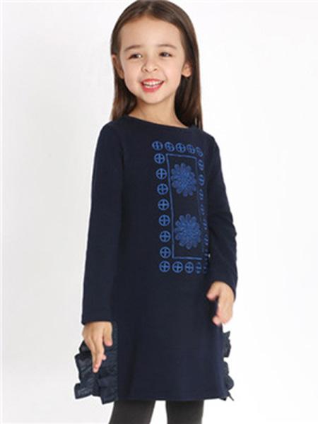 IPINCOPALLINO童装品牌2019秋季气质连衣裙女