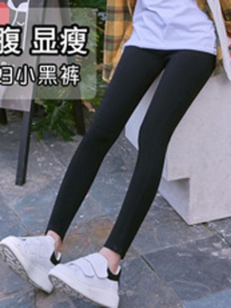 云梓童装品牌2019秋冬小黑裤