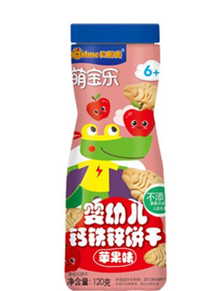 迪士尼 萌宝乐婴儿食品婴幼儿钙铁锌饼干苹果味