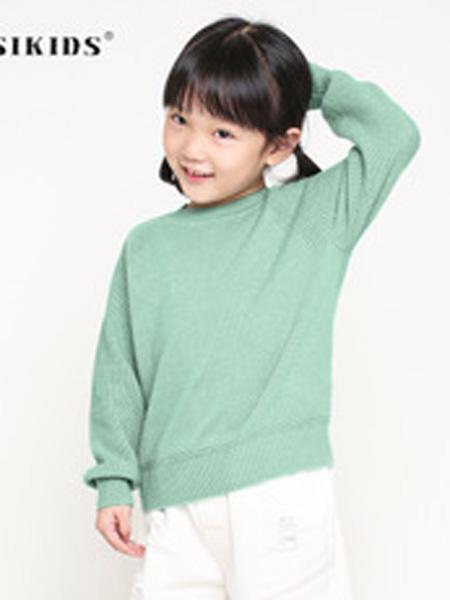 NUSIKIDS童装品牌2019秋季套头毛衣针织衫