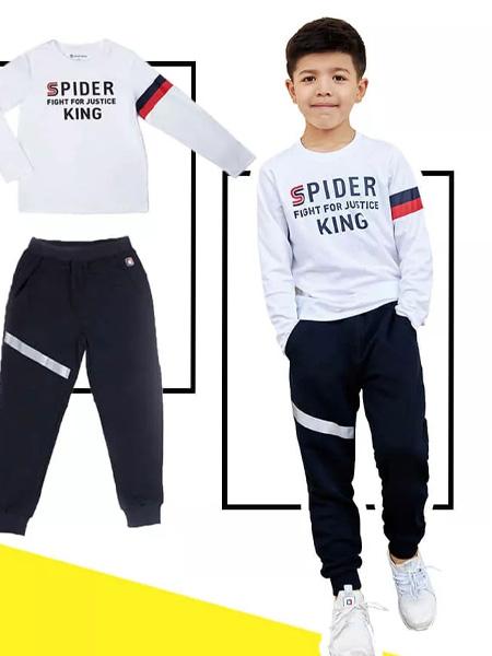 蜘蛛王童装品牌2019秋季宝宝套头衫上衣