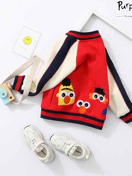 purpuya童装品牌2019秋冬棒球外套