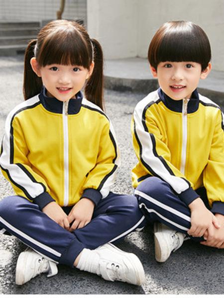 酷啦美拉童装品牌2019秋冬小学生秋季运动会儿童装班服
