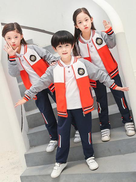 酷啦美拉童装品牌2019秋冬学生校服两件套儿童运动班服潮