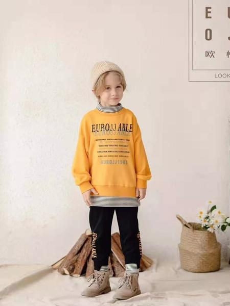 小象Q比童装品牌2019秋冬中长款卫衣