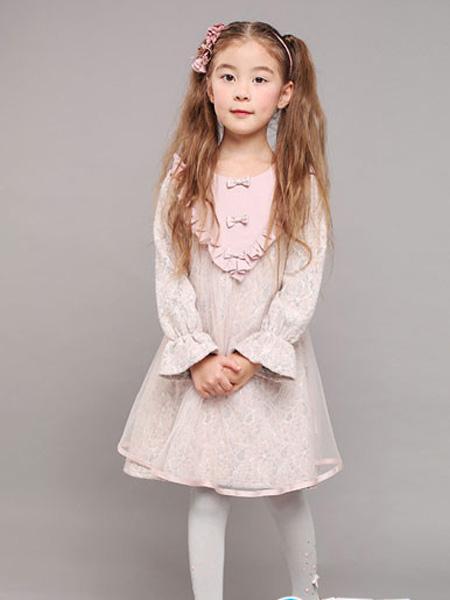 小象Q比童装品牌2019秋冬洋气公主裙