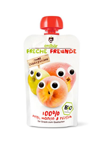 爱淘熊婴儿食品苹果芒果桃子味有机果蔬泥