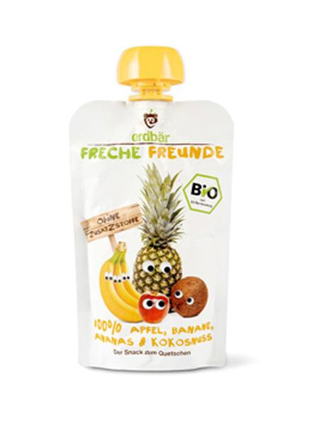 爱淘熊婴儿食品苹果香蕉菠萝椰子味有机果蔬泥