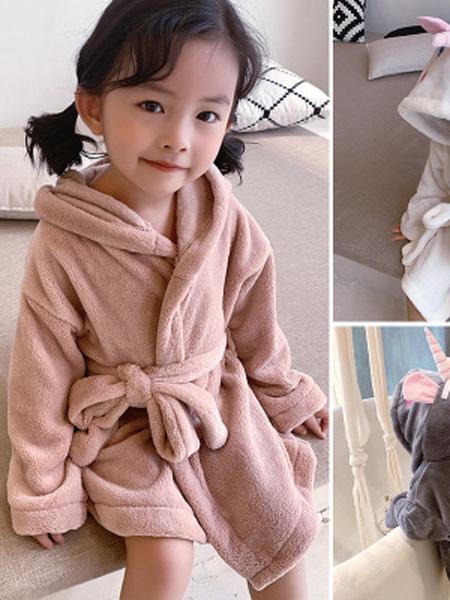 沐升童装品牌2019秋冬儿童睡袍