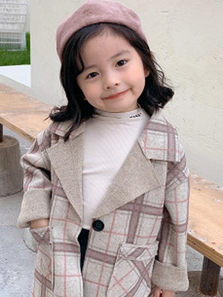 沐升童装品牌2019秋冬格子外套