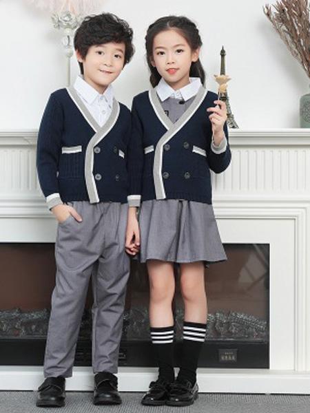 YBH/衣博汇童装品牌2019秋冬套装运动三件套学