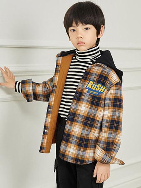 gxg.kids童装品牌2019秋冬格子加绒保暖外套