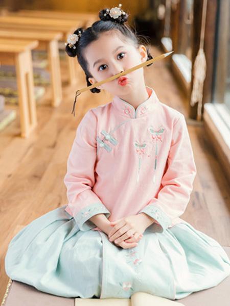 衿古文化童装品牌2019秋冬传统汉服女立领上衣对襟短袄马面裙