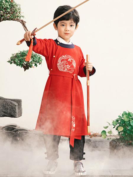 衿古文化童装品牌2019秋冬中国风传统汉服圆领袍非古装
