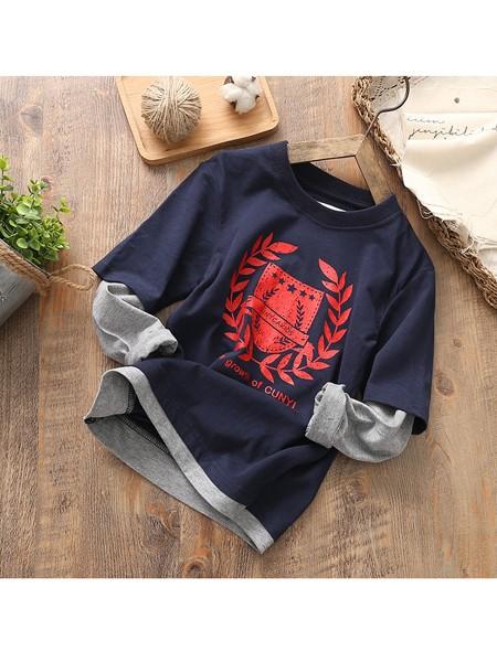 JDK童装品牌2019秋冬假两件纯棉卫衣