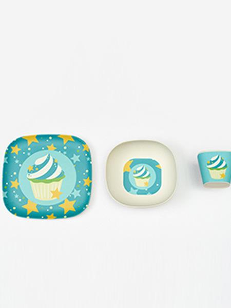 SuikerMammy婴童用品竹纤维餐具3件套