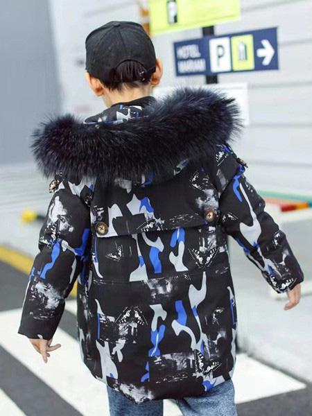 智比兔童装品牌2019秋冬毛领外套