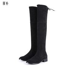 履朴童鞋品牌2019秋冬新款粗跟长靴