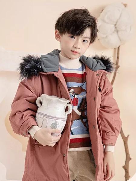 德蒙斯特童装品牌2019秋冬新品毛领羽绒服