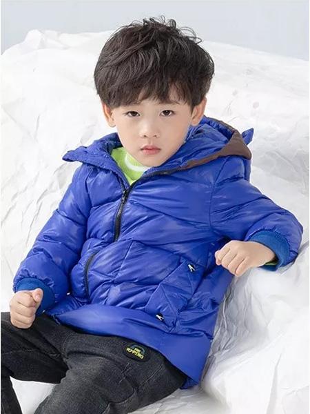 德蒙斯特童装品牌2019秋冬新品蓝色新款