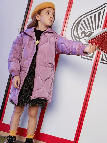 爱法贝童装2019冬女童中长款外套新款 洋气儿童中大童连帽