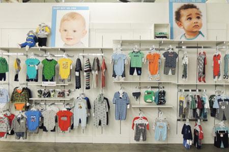 Carter's店�展示